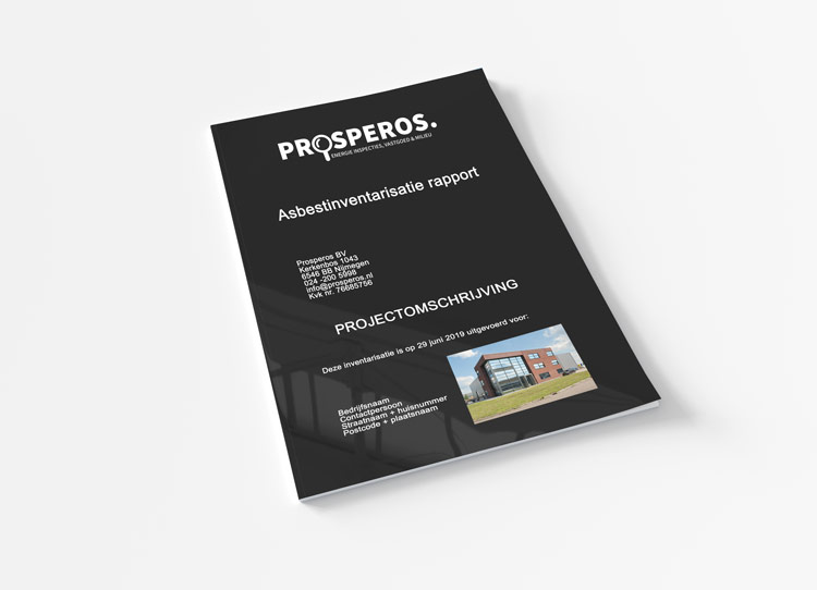 cover van een asbestinventarisatie rapport